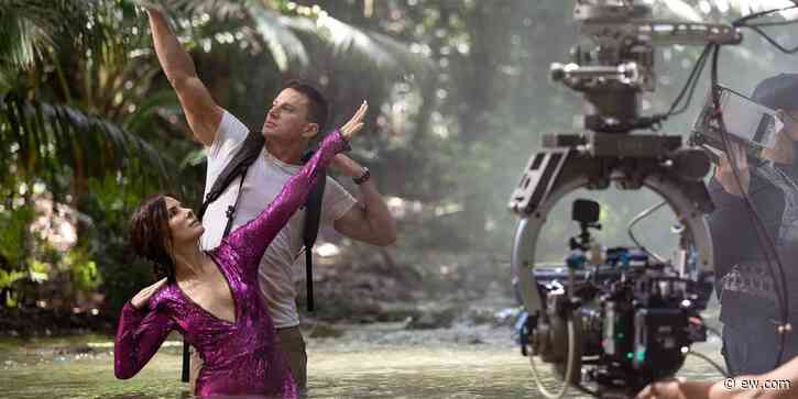Channing Tatum and Sandra Bullock are all wet in 'Lost City of D' set photo: 'No fun at all' - EW.com