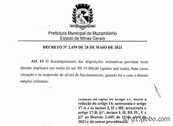 Muzambinho restringe circulação de pessoas e estipula multa de até R$ 15 mil ao comércio - G1