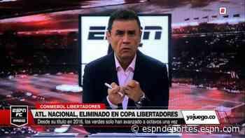 """Pacho Vélez, sobre la actuación de Nacional: """"Eliminación vergonzosa"""" - ESPN Deportes"""