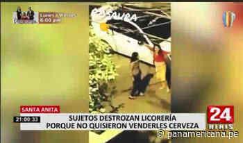 Santa Anita: sujetos atacaron licorería por no atenderlos porque era toque de queda | Panamericana TV - Panamericana Televisión