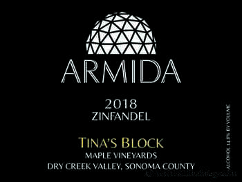 Armida 2018 Tina's Block Maple Vineyards Zinfandel (Dry Creek Valley) - Wine Enthusiast Magazine Online