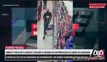 Seguranças de supermercado em Guarabira prendem acusado de furto - PortalMidia