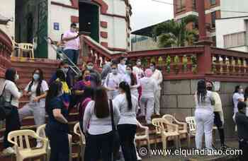 Personal de la salud reclama pago oportuno de sus salarios en Calarcá - El Quindiano S.A.S.
