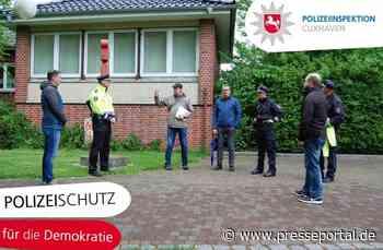 """POL-CUX: Aktion der Polizeiinspektion Cuxhaven zum Thema """"Polizeischutz für die Demokratie"""" - Presseportal.de"""