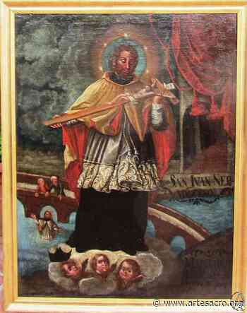 Restauración del lienzo de San Juan Nepomuceno del Museo del Santo Ángel - Arte Sacro