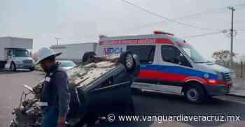 ¡Heridos al volcar en Puente Nacional! - Vanguardia de Veracruz