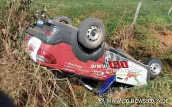Alta Floresta: Veículo capota após motorista tentar realizar curva - ROLNEWS