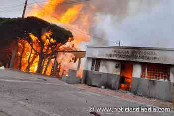 Queman subestación policial de Cartagenita en Facatativá, Cundinamarca - Noticias Día a Día