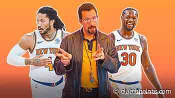 Knicks news: Adam Sandler goes 'Uncut Gems' ahead of NY-Hawks game - ClutchPoints