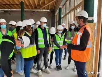 En images. Aizenay : les collégiens visitent le chantier du futur lycée - actu.fr