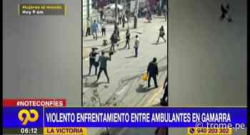 Registran violento enfrentamiento entre ambulantes en Gamarra - Diario Trome