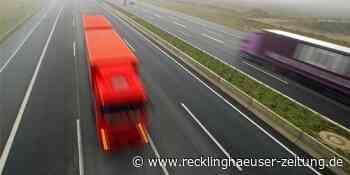 A42 Richtung Kamp-Lintfort gesperrt: Unfall mit zwei Lastwagen - Recklinghäuser Zeitung