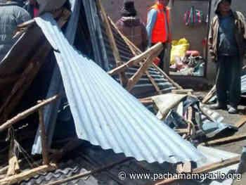 Vientos destechan aulas, vivienda y quioscos de artesanía en Umayo (Atuncolla – Puno) - Pachamama radio 850 AM