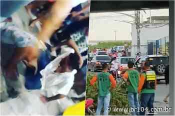 Em Messias, populares capturam, lincham e entregam à polícia trio acusado de roubo - BR 104