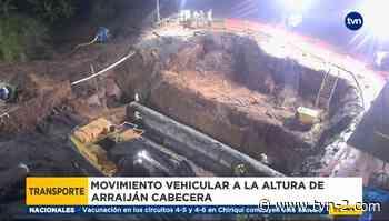 Trabajos de reparación de vía colapsada en Arraiján reportan 70% de avance - TVN Panamá