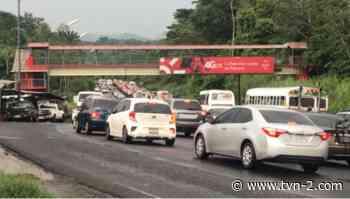 En directo: tráfico en Arraiján por los trabajos de reparación en la vía Interamericana - TVN Noticias