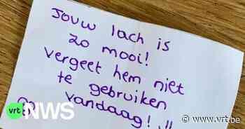 """Opwijk is op zoek naar anonieme schrijver van briefjes met complimentjes: """"Jouw lach is zo mooi"""" - VRT NWS"""