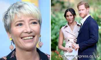 Emma Thompson's furious outburst over Meghan and Harry: 'Give them a break' - Express