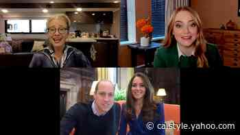 Kate Middleton and Prince William Chat with Cruella Stars Emma Thompson and Emma Stone - Yahoo Canada Shine On
