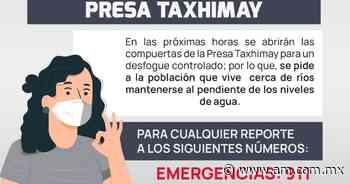 Atención vecinos de Tepeji: abrirán compuertas de presa Taxhimay para desfogue - Periódico AM