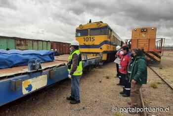 Puerto de Arica y ferroviarias concluyen prueba técnica del tren de Arica a La Paz - PortalPortuario