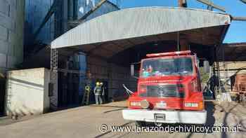Principio de incendio en los silos de la calle 110 - La Razon de Chivilcoy