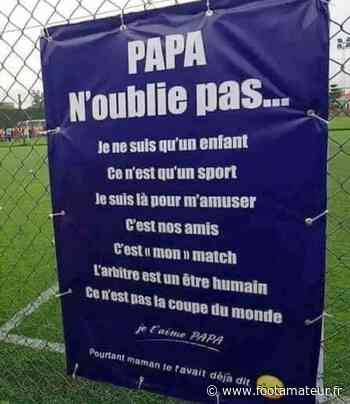 « Papa, n'oublie pas... », le beau message relayé par le FC Raismes - FootAmateur