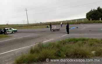 Muere motociclista tras chocar contra taxi en la autopista Perote–Puebla - Diario de Xalapa
