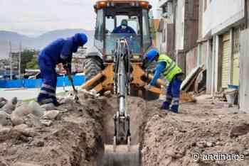 EPS Moquegua trabaja en renovación de redes de agua potable y alcantarillado - Agencia Andina