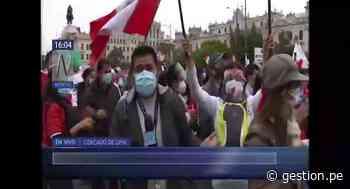 """Cercado de Lima: marcha por la """"Paz y la democracia"""" recorre las calles de la capital - Diario Gestión"""