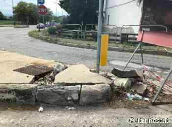 """Strada Pianezza: """"Quel cordolo è pericoloso"""" - Il Torinese"""