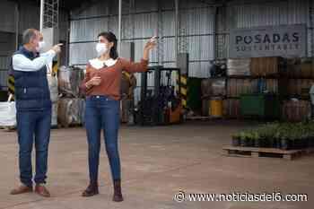Malena Mazal y Fernando Santacruz recorrieron la Planta de Procesamiento de Residuos Verdes con Stelatto y Arce - Noticiasdel6.com