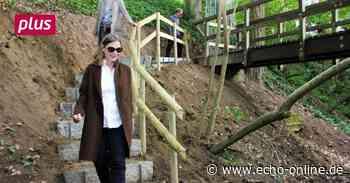 Heppenheim: Die Holzbrücke über den Bombach hat ausgedient - Echo Online
