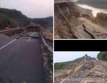 Colapsa tramo Santa Casilda-Cuatro Caminos de la Siglo 21 - Quadratín - Quadratín Michoacán