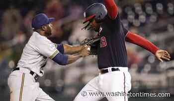 Nationals swept by Brewers in day-night doubleheader