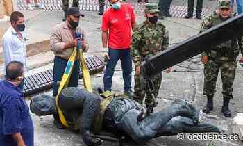 ¿A la cárcel indígenas que tumbaron estatua de Belalcázar en Cali? Denunciados penalmente - Diario Occidente