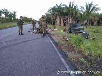 Accidente de tránsito deja diez militares heridos en Sardinata | Noticias de Norte de Santander, Colombia y el mundo - La Opinión Cúcuta