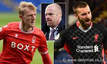 Sean Dyche 'targeting Liverpool's Nat Phillips' to bolster his defence at Turf Moor next season.