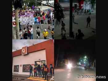 Saquearon un almacén de cadena y los patios del tránsito al finalizar protesta en Barranquilla - TuBarco