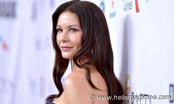 Catherine Zeta-Jones radiates beauty in plunging white outfit for gorgeous photo - HELLO!