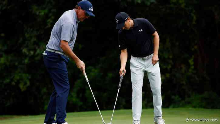 Jordan Spieth solo leader at Colonial; Phil Mickelson misses cut after late slipups - ESPN