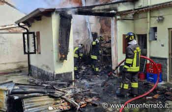 Incendio in un garage di corso Cavour a Trino - Il Monferrato