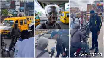 Grandpa Who Rides Okada for a Living in Ikeja Smiles as Man Delivers His Beautiful Photograph to Him ▷ Legit.ng - Legit.ng