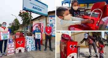 Donan lavamanos comunitarios para combatir la pandemia en Ancón y Santa Rosa - Diario Trome