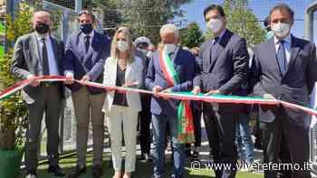 Monte Giberto: Acquaroli e la Vezzali inaugurano il campo polivalente - Vivere Fermo