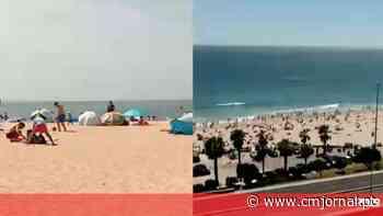 Praia de Santo Amaro de Oeiras com semáforo para indicar nível de ocupação - Correio da Manhã