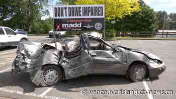 Sobering display to combat impaired driving set up in Courtenay - CTV News VI