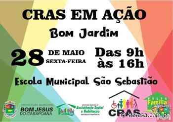 CRAS em Ação hoje (28/05) em Bom Jardim - Defesa - Agência de Notícias