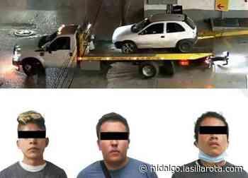 Con videovigilancia, policía detiene a tres presuntos asaltantes en Tizayuca - La Silla Rota