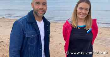 GMB's weatherman Alex Beresford spotted filming on Exmouth Beach - Devon Live